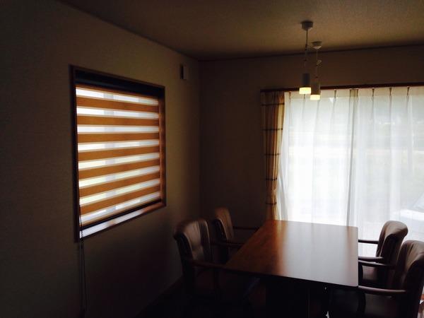 『調光スクリーン』window treatment!