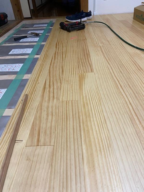 『床暖房システムとピノアース』熊本 天草 内装リフォーム