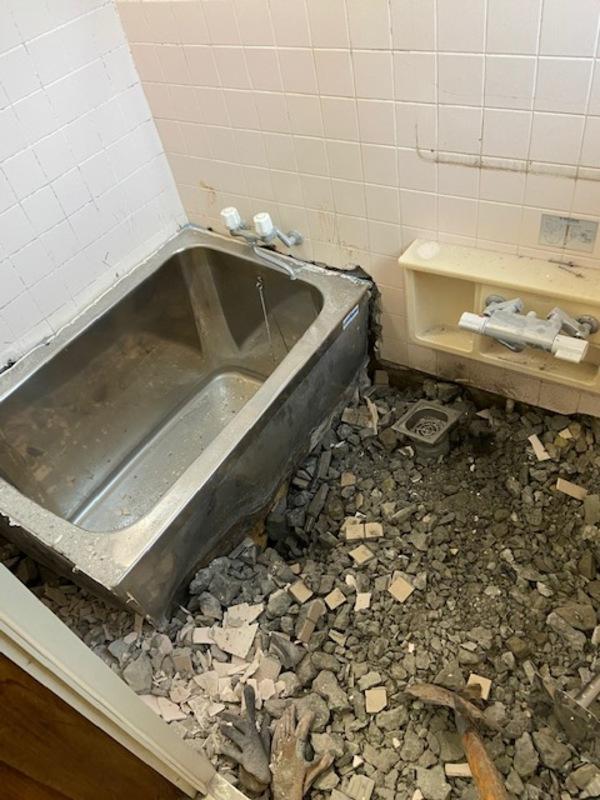 『M様邸浴室解体』天草市リフォーム助成事業