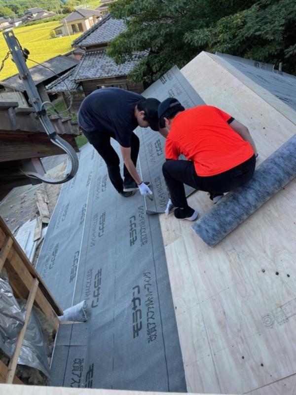 『N様屋根工事』ルーフィング